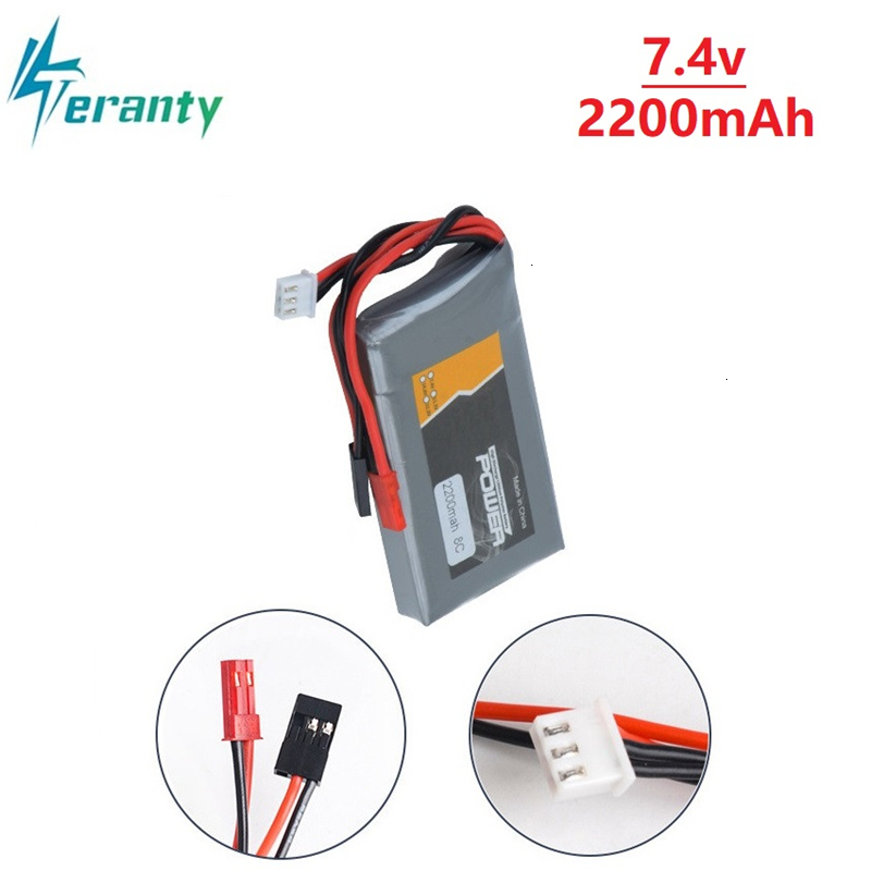 Remote Control Battery 2200mAh 7.4V 2S LiFe Battery Pack With BBL1 Futaba 3P Plug For 14SG 16SZ 18SZ 1P 2S Batery