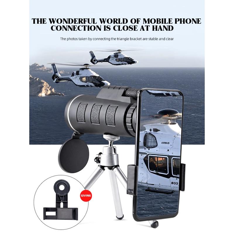 Monokularni 40X60 zum jasni slabi džepni teleskop za noćni vid s - Kampiranje i planinarenje - Foto 3
