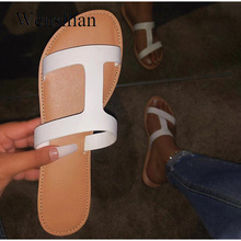Summer Sandals Slippers Beach-Shoes Women Ladies Crystal Bling for Slides Flats Female
