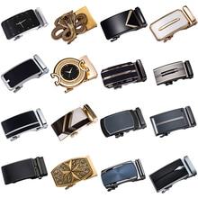 fishing aluminum alloy gimbal waist belt golden black 2019 Fashion Automatic Belt Buckles for Men's Leather Belt Metal Buckles for Belt Gold Black Sliver Alloy Waist Strap Buckles
