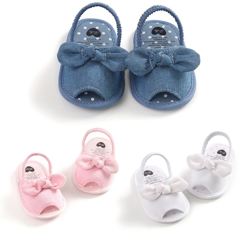 Summer Baby Girls Breathable Anti-Slip Shoes Butterfly-knot Pattern Sandals Toddler Soft Soled First Walkers Shoes12