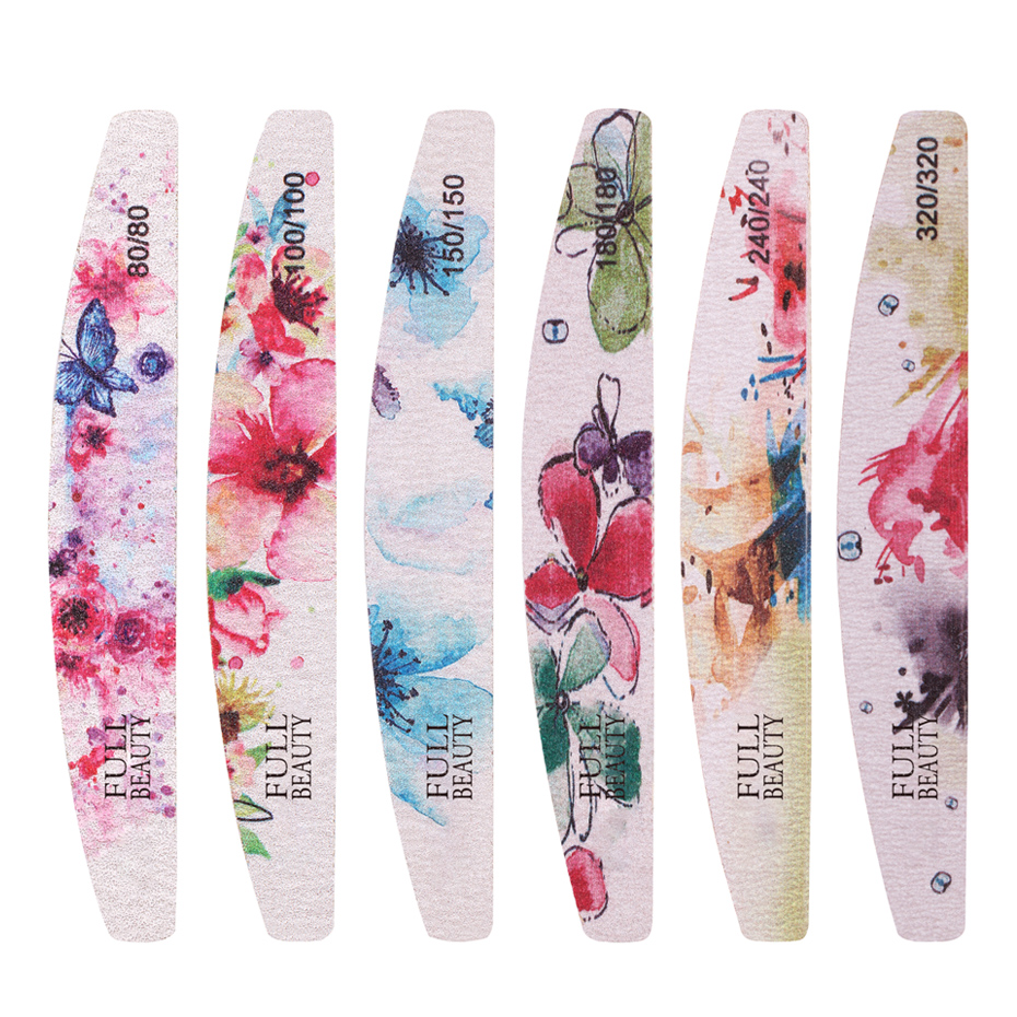 1pcs Professional Nail Files Block Buffer Pedicure Manicure 80/80 Buffing Sanding Nail File Disposable Polish Grind Tools TR1523