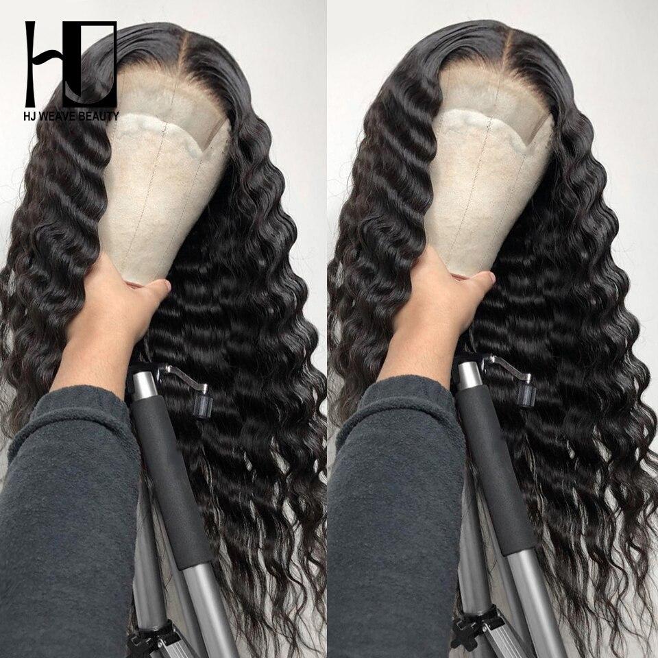 Perruque Lace Front Wig Remy à Loose Deep Wave   Perruques Lace Frontal Wig de cheveux naturels cheveux de bébé sans colle densité 250 pour femmes noires