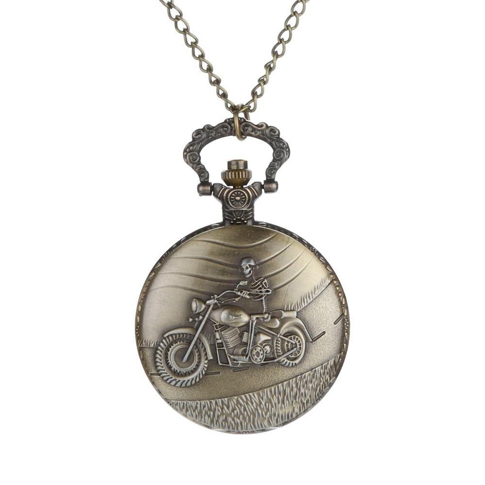 Personalized Pattern Steampunk Vintage Quartz Roman Numerals Pocket Watch Watch Clock Wholesale Relogio De Bolso #4D03