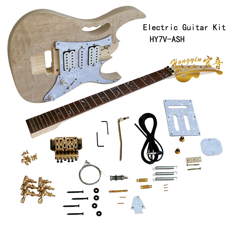 Electric Guitar Kit Set Manchurian Ash Basswood Body Rosewood Fingerboard Durable Maple Neck Guitar Accessories image