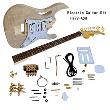 Electric Guitar Kit Set Manchurian Ash Basswood Body Rosewood Fingerboard Durable Maple Neck Guitar Accessories(China)