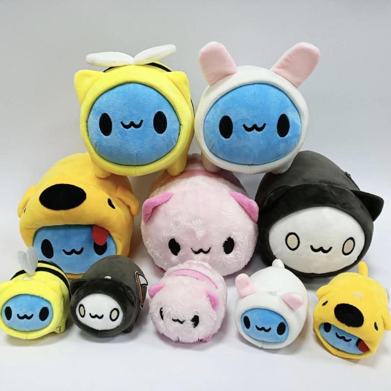 5pcs/set Bugcat Capoo Stuffed Toys Key Chain Disguised Cute Cat Toy Bag Pendant Ornament Plush Cartoon Doll Gifts for Kids