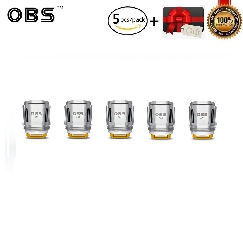 5pcs/lot Original OBS Cube Kit Replacement Coil OBS Draco M1 Mesh Core 0.2ohm Resistance For OBS Draco Starter Kit Vaporizer