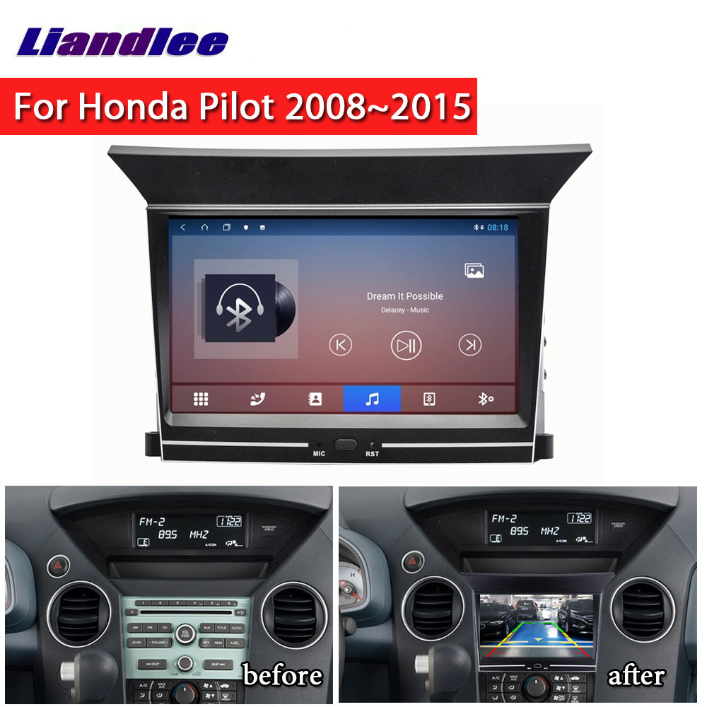 2 Din Car DVD Radio Multimedia Player For Honda Pilot 2008~2015 Android Video Stereo Audio Carplay GPS Map Navigation System image