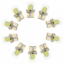 100 Pieces T10 194 168 W5W 12V 4 COB LED CANBUS Light Bulbs Silica Bright White Dome Map Light Energy Saving