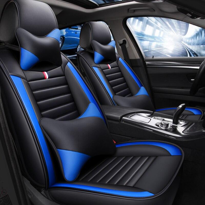 Спортивный кожаный чехол для автомобильного сиденья hyundai Tucson Santa Fe getz solaris creta kona lantra i40 elantra terracan все модели - 3