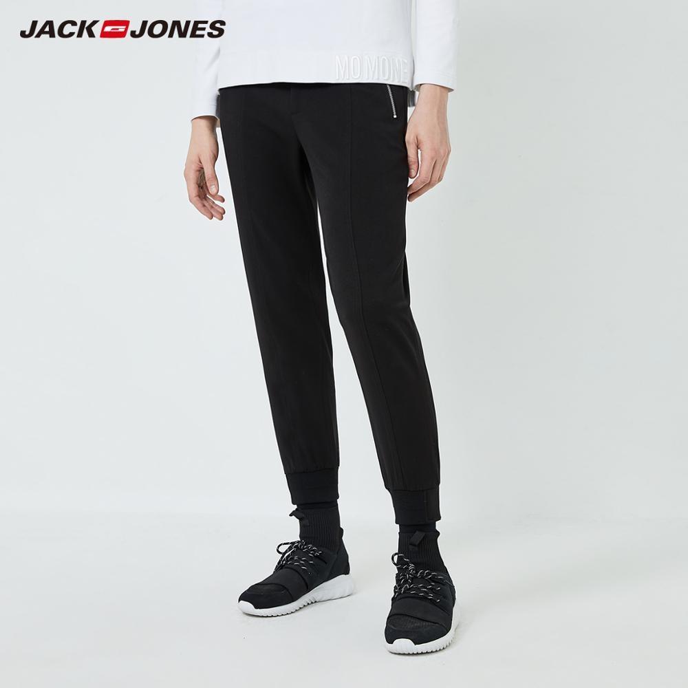 JackJones Men's Pure Color Slim Fit Pants Fashion Ankle-length Trousers Menswear 219314536