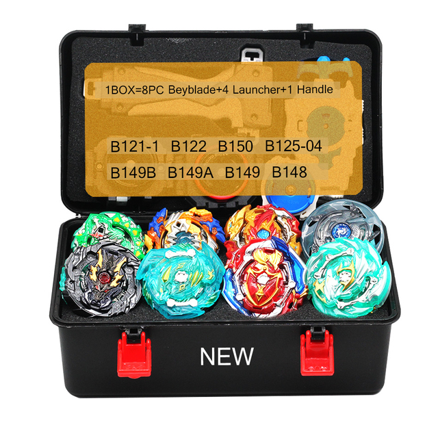 TAKARA TOMY Combination Beyblade Burst Set Toys Beyblades Arena Bayblade Metal  4D B150 with Launcher Spinning Top Toys
