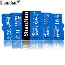 SHANDIAN-tarjeta SD de 256 gb, lector de tarjetas de memoria, tarjeta TF de 128GB, 64GB, 32GB, tarjeta micro sd de 1tb, 16GB, 8GB, flash de Clase 10
