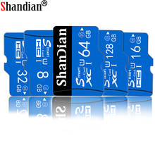 SHANDIAN – carte micro SD, 8 go/16 go/256 go/64 go/32 go/128 go, classe 10, lecteur de mémoire flash