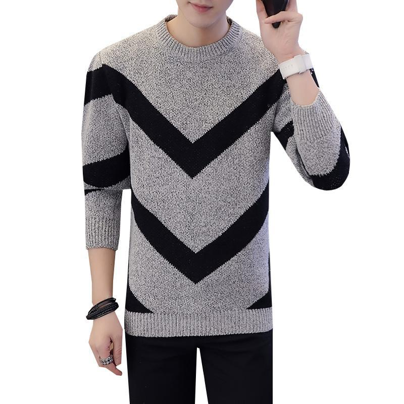 Casual Long Sleeve Crew Neck Sweater Autumn Winter Pullover Knitted Shirt XXXL Mens Casual Clothes Couple Christmas Sweaters 3XL