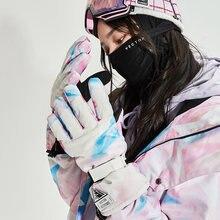Зимние женские лыжные перчатки теплые варежки с подогревом мужские