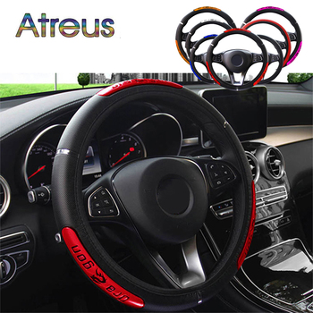 Pu Leather Car Steering Wheel Cover Anti-Slip 38CM for BMW E46 E90 E60 E39 E36 F30 F10 F20 X5 E70 E53 M G30 E91 E34 F31 E30 E92 image