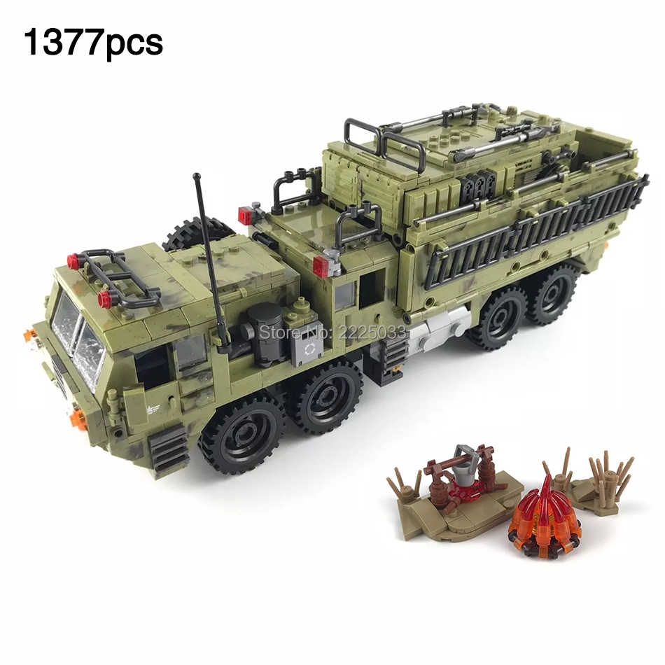 Scorpio Heavy Truck compatible legoinglys army war Jungle Commando military vehicle building blocks brick toys for children gift
