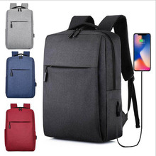 Backpack New Simple Usb Rechargeable Backpack Men Casual Business Computer Bag 2021