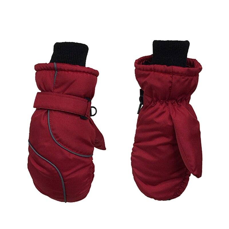 Популярные Нескользящие Детские лыжные перчатки, ветрозащитные водонепроницаемые детские зимние варежки, утепленные варежки для девочек и мальчиков, детские варежки, теплые перчатки для детей - Цвет: 3