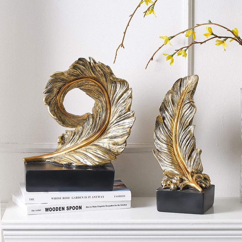 Creative Modern Golden Leaf Ornament 3