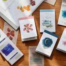 80 шт./4 серии, переносной мини-материал с вами, декоративная бумага для естественной руки, для дома, школы, офиса, блокнот для сообщений