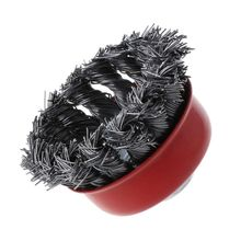 M10 Stainless Steel Wire Polishing Bowl Brush with 10MM Hole Twisted Wire Shape Wheel for Polished Derusting Tools все цены
