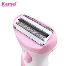 Kemei Epilator Rechargeable Hair Removal Waterproof Electric Lady Shaver Women B