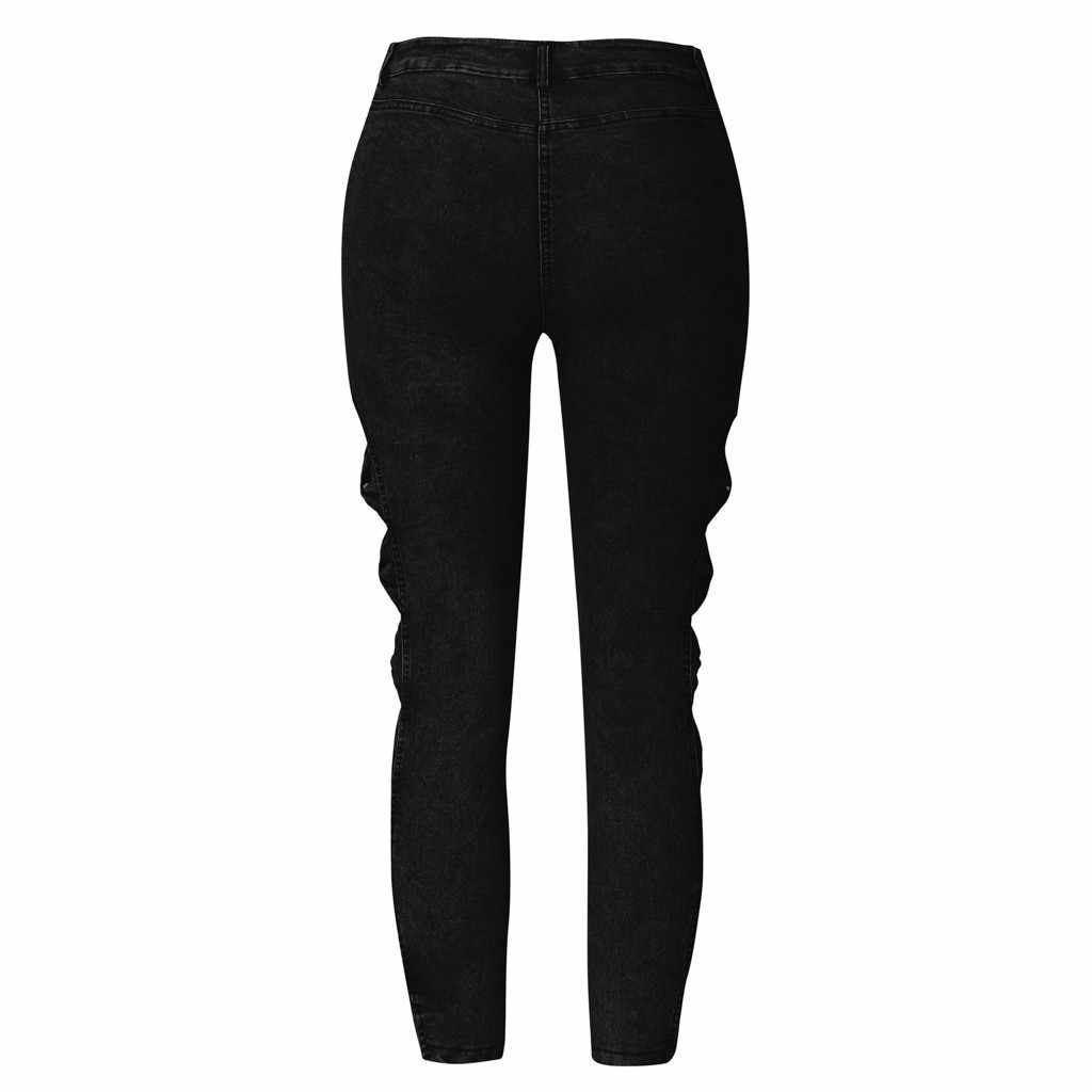 2019 женские джинсы с эффектом пуш-ап, облегающие джинсы на пуговицах и молнии, большие размеры, одежда, новая мода, женские джинсы на лето, осень, зиму, # C