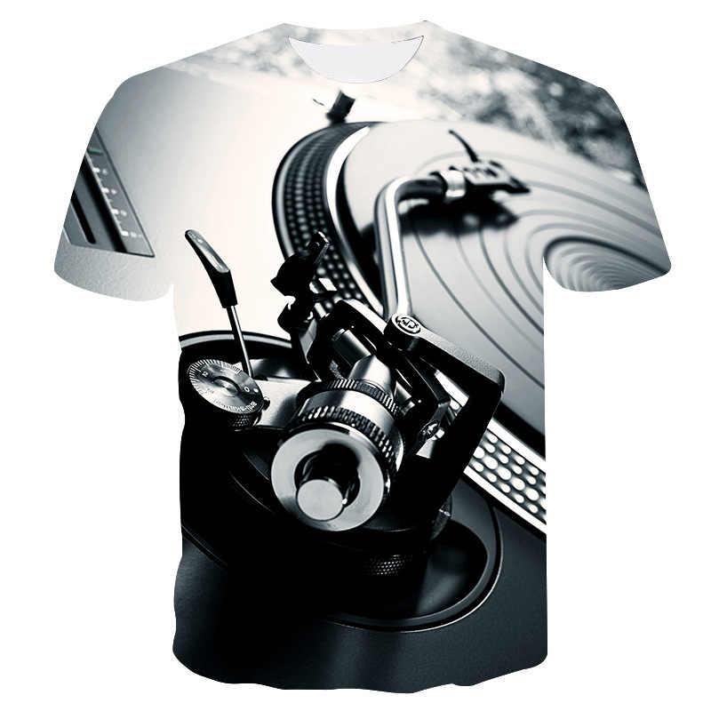 2019 dos homens do verão camiseta da motocicleta do punk vestuário retro roupas mecânicas tshirt topos camisetas engraçado 3d