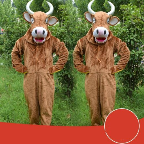 Costume de mascotte de vache Costume Cosplay jeu de fête tenues de déguisements d'animaux publicité Promotion carnaval Halloween noël adulte Parade