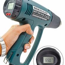 Nozzle Heat-Guns Thermoregulator Eu-Plug Industrial Electric 2000W NEWACALOX 220V LCD