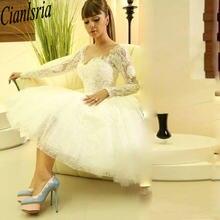 Модная одежда с длинным рукавом белый платье для встречи выпускников