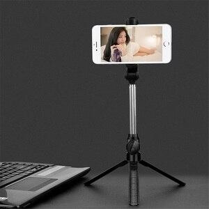 Image 2 - Universel sans fil Bluetooth Selfie bâton Mini pliable téléphone trépied extensible manipulé monopode pour téléphone portable Selfie bâton