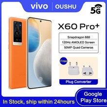 Original vivo x60 pro + 5g celular 4200mah 55w traço carga 50mp câmera principal dupla snapdragon888 nfc120hz atualizar taxa smartphone