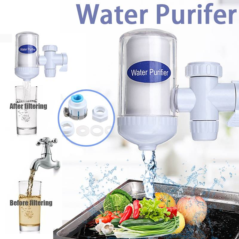 Household Tap Water Purifier Kitchen Faucet Washable Ceramic Percolator Mini Water Filter Bacteria Removal Replacement Filter