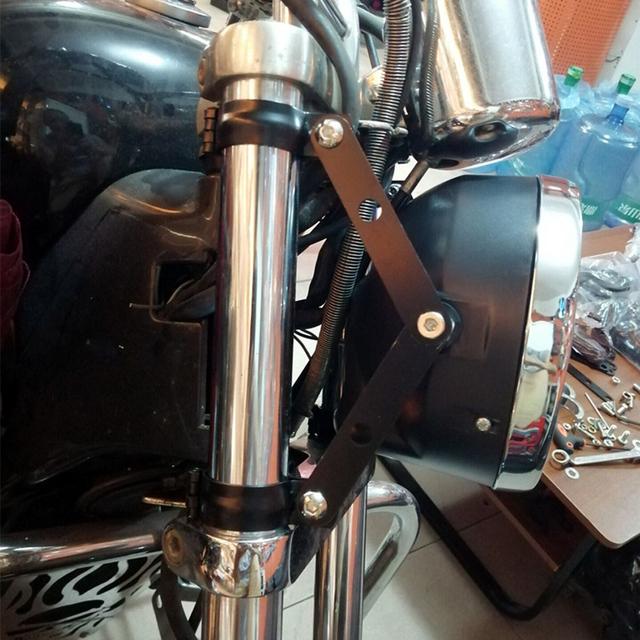 2PCS Universal Black Motorcycle Headlight Bracket Mount 39-41MM Fork Clamp For Suzuki Cafe Racer Yamaha Kawasaki Triumph