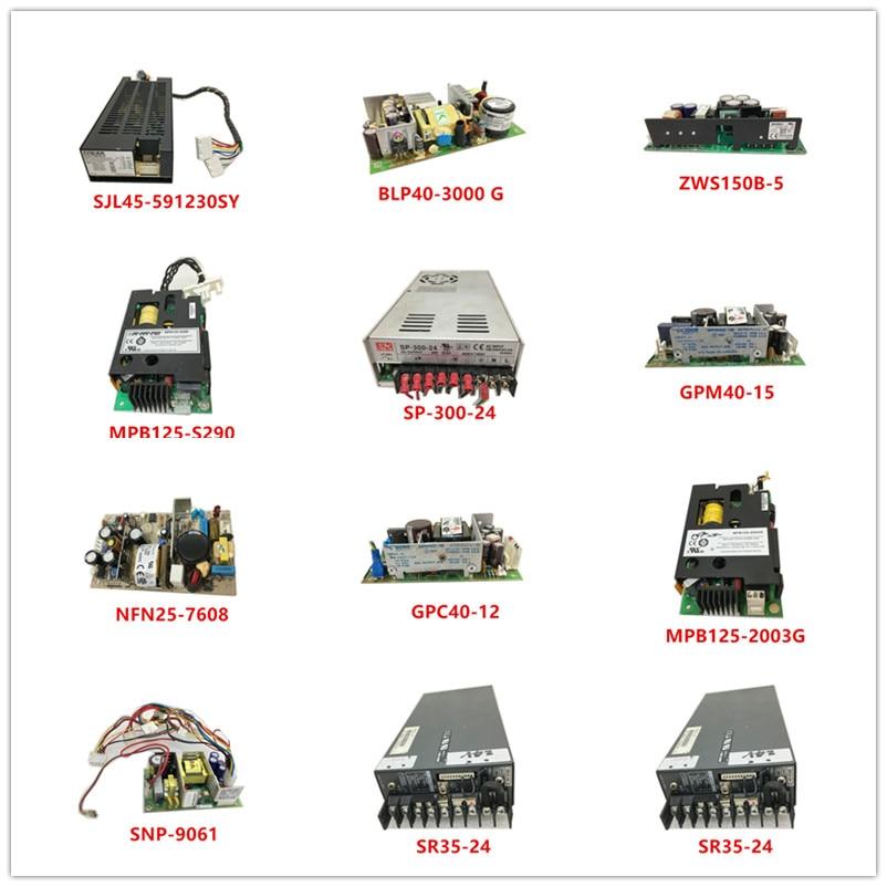 SJL45-591230SY BLP40-3000 G ZWS150B-5 MPB125-S290 SP-300-24 GPM40-15 NFN25-7608 GPC40-12 MPB125-2003G SNP-9061 SR35-24 Used
