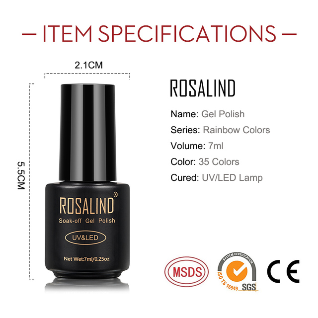 ROSALIND Nail Polish Red Nude Series Polish All For Manicure Nails Art Semi Permanent Gel UV LED Soff Off Hybrid Varnishes 4