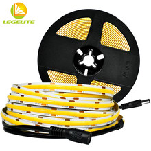 LEGELITE COB LED bande lumineuse 480LED s/M haute densité Flexible LED lumières DC 12V 24V pâte maison mur décoration bande lumière