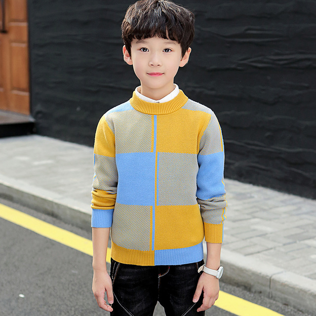 winter childrens clothing   Kids clothes  Winter clothes Cotton Keep warm Boys sweater pullover Sweater Boys clothing