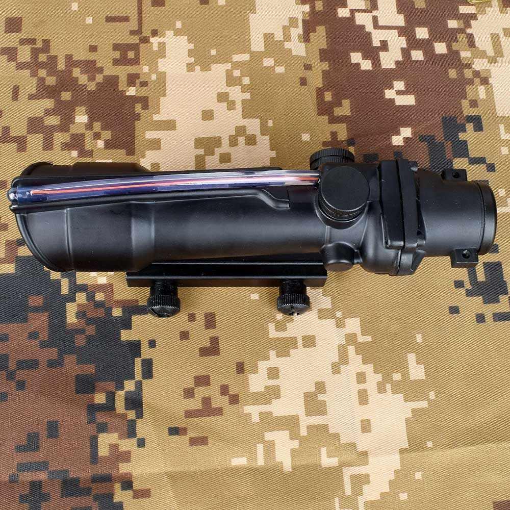 ACOG 5x35 avcılık tüfek çift işıklı Chevron kırmızı yeşil çapraz Fiber kapsamı Reticles taktik tüfek optik Sight