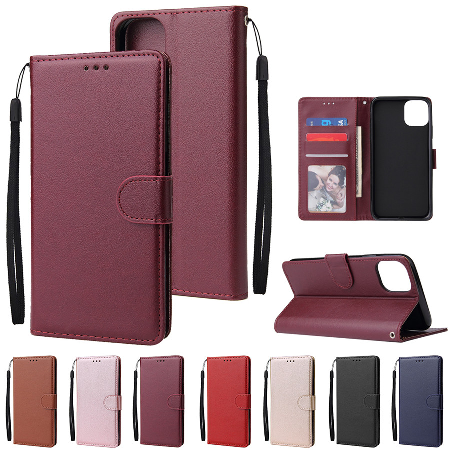 Flip Wallet Case Luxury PU Leather Cover With Card Slots For iPhone 12 11 Pro Xs Max XR X 8 7 6 6s Plus 5 5S SE 2020 Case Coque