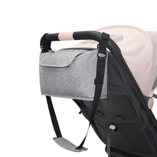 Buggy Pram Bag Organiser for Baby Stroller Accessories with Cup Holders & Shoulder Strap Handbag Storage Bag Fit All Buggy