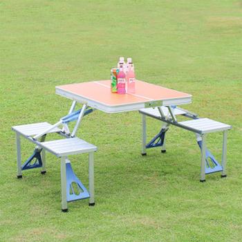 Składany na zewnątrz stół plażowy stół kempingowy stół i krzesła Camping stół piknikowy ze stopu Aluminium wodoodporny trwały składany stół tanie i dobre opinie HAIMAITONG CN (pochodzenie) 85 5*67 5cm ALL-1220