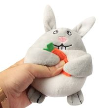 Pet-Squeaky-Toys Carrot-Shape Rabbit Plush And Interactive-Puzzle Seek Dog-Hide