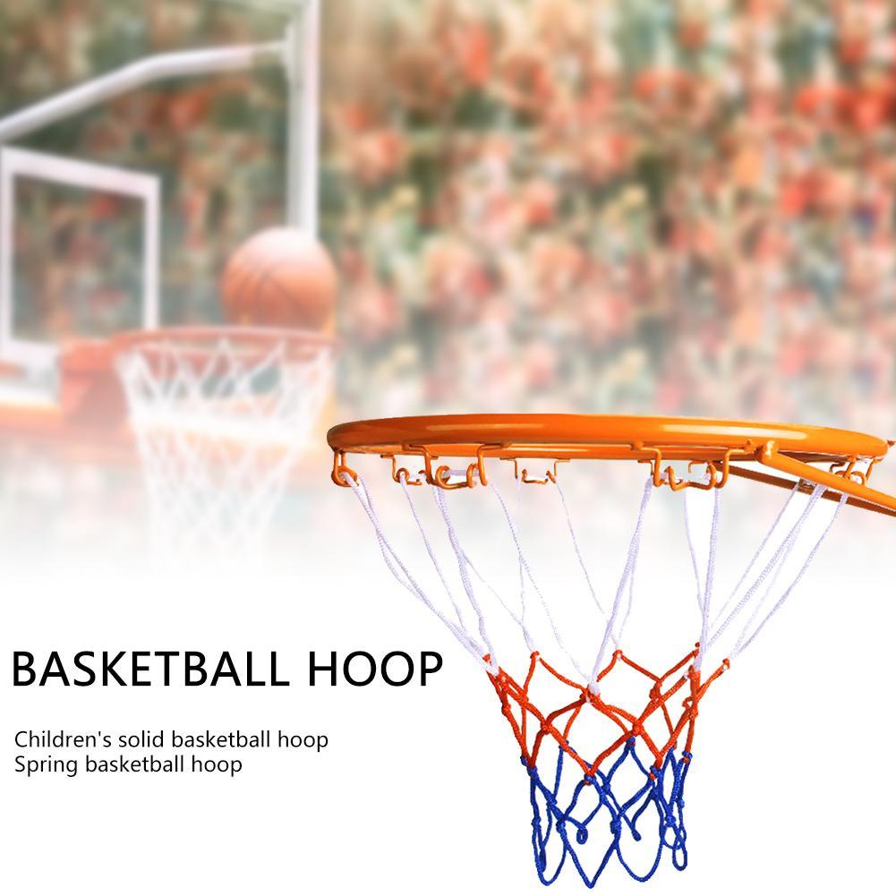 Basketball Rim And Net Ball Frame Basketball Hoop Netting Metal Rim Hanging Basket Wall Basketball Rim Screws Indoor Outdoor