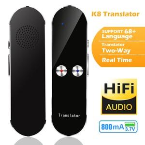 Image 2 - آلة التعلم الذكي K8 مترجم اللغة ترجمة الصوت 40 متعدد اللغات في اتجاهين الترجمة في الوقت الحقيقي