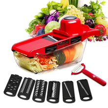 Manual Mandoline Slicer Vegetable Cutter With Stainless Steel Blades Potato Chess Grater Effective Kitchen Accessories